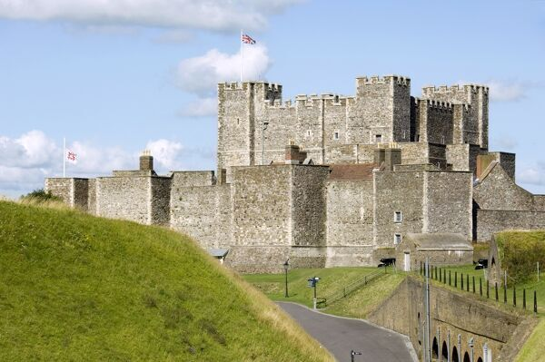 DOVER CASTLE, Kent. View of the Keep from the east