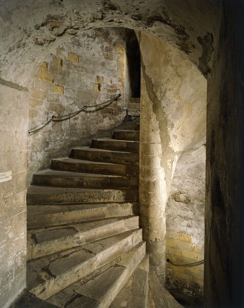 DOVER CASTLE, Kent. Interior view of the South staircase