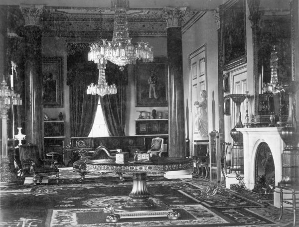 OSBORNE HOUSE, Isle of Wight. The Ryde Album. Interior view. The Drawing Room c.1890