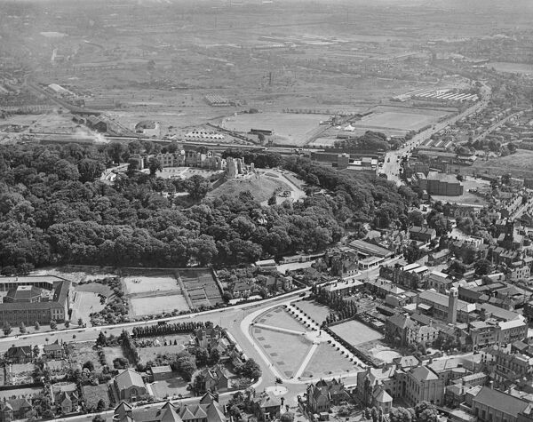 Dudley Castle, West Midlands. Aerial view by Aeropictorial. Aerofilms Collection. June 1947