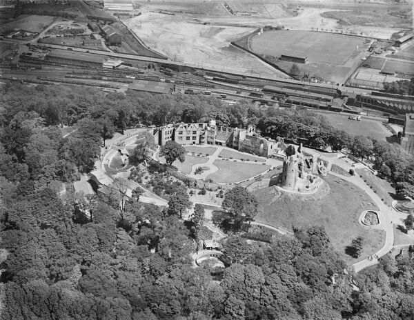 Dudley Castle, West Midlands. Aerial view by Aeropictorial. Aerofilms Collection. June 1939