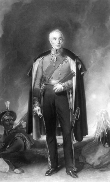 WALMER CASTLE AND GARDENS, Kent. Engraving of Arthur Wellesley, first Duke of Wellington in Field Marshal uniform