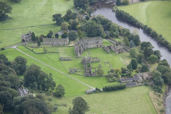 Easby Abbey, Richmond, North Yorkshire. Premonstratensian abbey founded in 1152. The site is now in the care of English Heritage