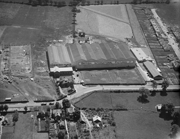 ELSTREE STUDIOS, Shenley Road, Borehamwood. Aerial view. Premises of British International Pictures Ltd. Photographed in July 1928. Aerofilms Collection (see Links)