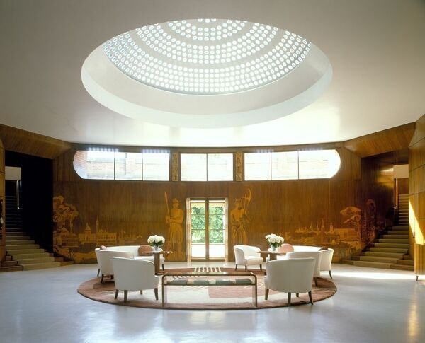 ELTHAM PALACE, London. Interior view of the Entrance Hall