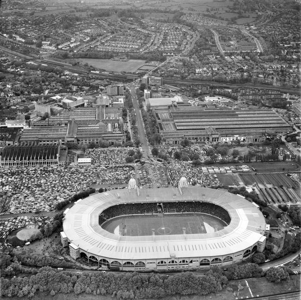 Wembley Park, The Empire Stadium Photographed on 8th May 1963 during an international friendly match. It was a 1-1 draw between England and Brazil. Aerofilms Collection