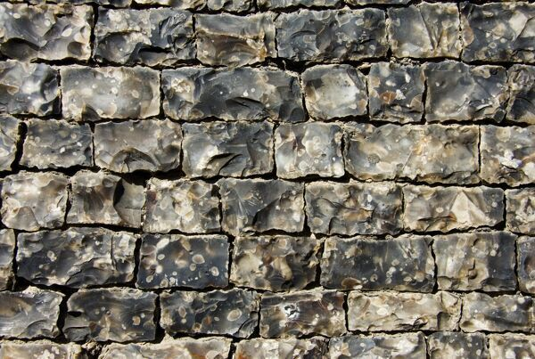 Detail of flint stone wall