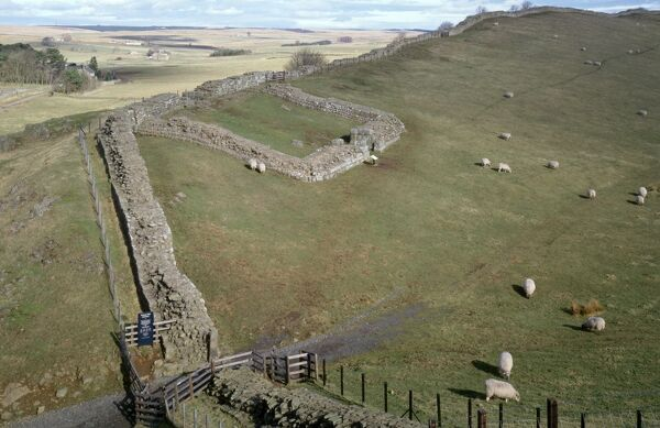 HADRIAN'S WALL: CAWFIELDS, Northumberland. Milecastle 42. General view