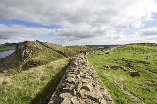 HADRIAN'S WALL, Northumberland. General view of wall at Steel Rigg. hadrian