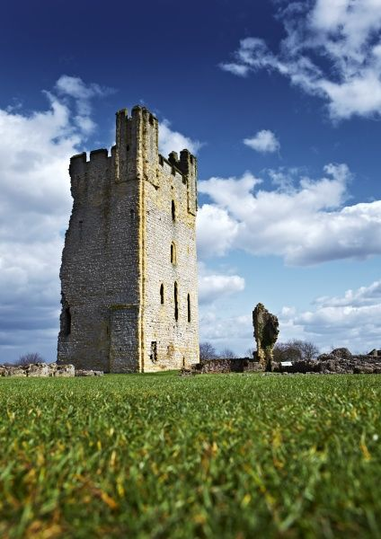 HELMSLEY CASTLE, North Yorkshire. View of the East Tower
