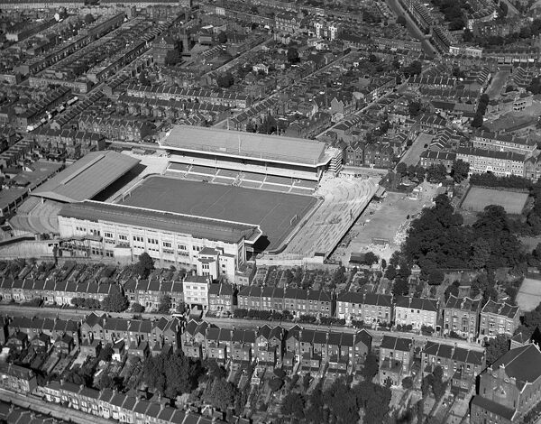 HIGHBURY STADIUM, London. Aerial view of the home of Arsenal Football Club since 1913. Photographed in 1936. Aerofilms Collection (see Links)