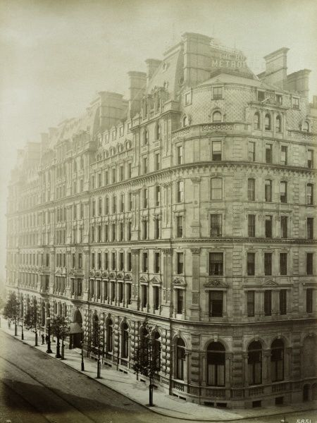 HOTEL METROPOLE, Northumberland Avenue, London. Exterior of the hotel from the east. Photographed in 1885 by Bedford Lemere