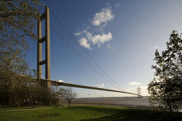 HUMBER BRIDGE, East Riding of Yorkshire / North Lincolnshire. General view of the bridge
