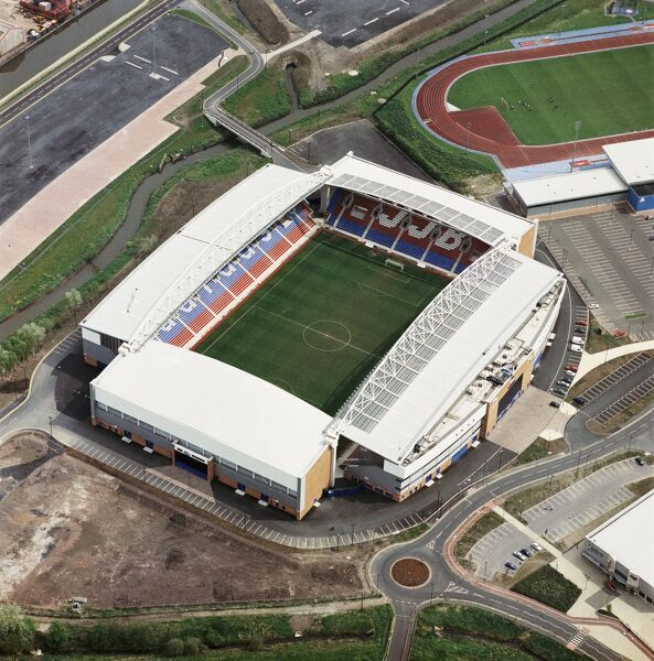JJB STADIUM, Wigan. Aerial view of the home of Wigan Athletic FC since 1999. Photographed in 2000. Aerofilms Collection (see Links)