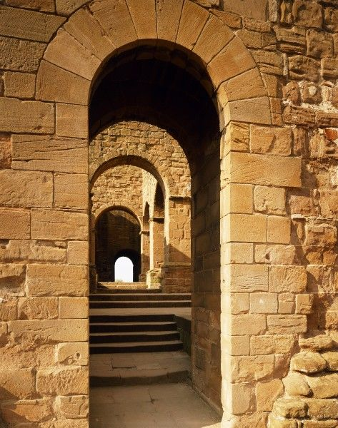KENILWORTH CASTLE, Warwickshire. Tudor loggia / corridor, converted from the Norman forebuilding of the Keep