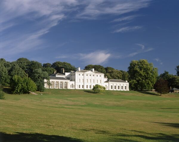 KENWOOD HOUSE, London. Exterior view. South front and grounds
