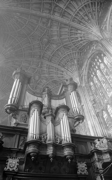 KING'S COLLEGE CHAPEL, Cambridge, Interior view