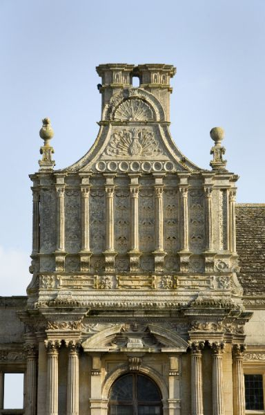 KIRBY HALL, Northamptonshire. Detail of Porch
