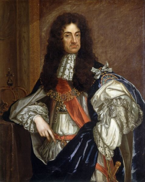 "KENWOOD HOUSE, SUFFOLK COLLECTION, London. "" Charles II "" by studio of Sir Godfrey KNELLER (1646-1723)"