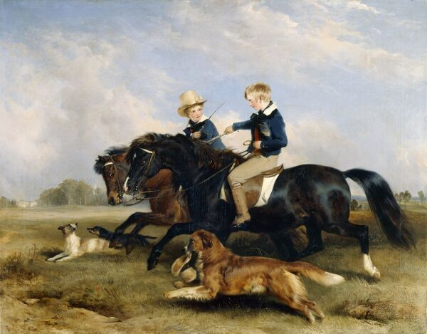 "KENWOOD HOUSE, London. ""The Hon. Edward Southerell Russell and His Brother"" 1834 by Sir Edwin Landseer (1802-1873)"