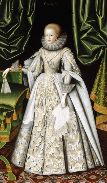 "KENWOOD HOUSE, SUFFOLK COLLECTION, London. "" Anne Cecil, Countess of Stamford "" c1615 by LARKIN William (d1619)"