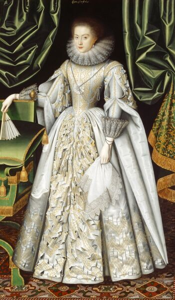 "KENWOOD HOUSE, SUFFOLK COLLECTION, London. ""Diana Cecil, Countess of Oxford"" by William LARKIN (died 1619)"