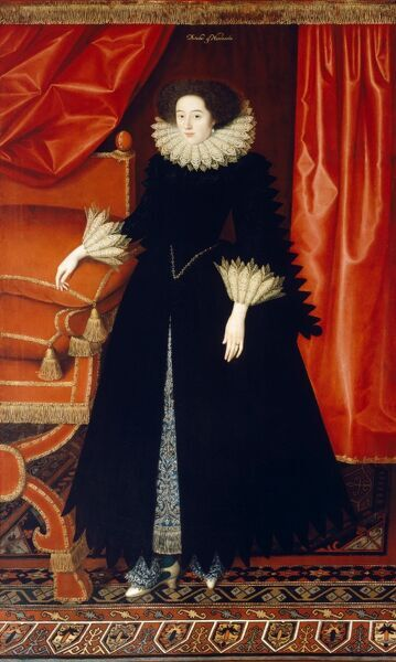 KENWOOD HOUSE, SUFFOLK COLLECTION, London. 'Elizabeth Bassett Countess of Newcastle' c.1615 by William LARKIN (d.1619)