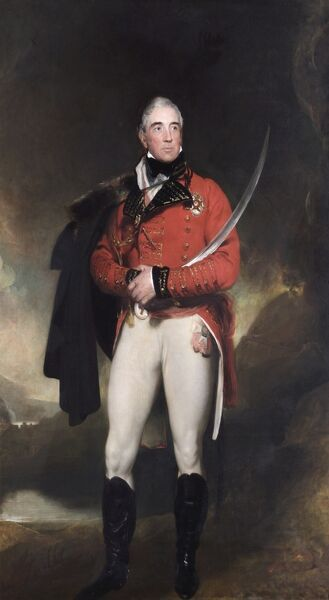 "APSLEY HOUSE, London. ""Thomas Graham, Lord Lynedoch"" commissioned in 1817 from Sir Thomas LAWRENCE (1769-1830)"