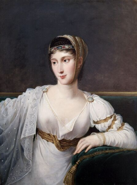"APSLEY HOUSE, London. ""Pauline Bonaparte, Princess Borghese"" (1780-1825) painted 1806 by Robert LEFEVRE (1755-1830). WM 1519-1948"