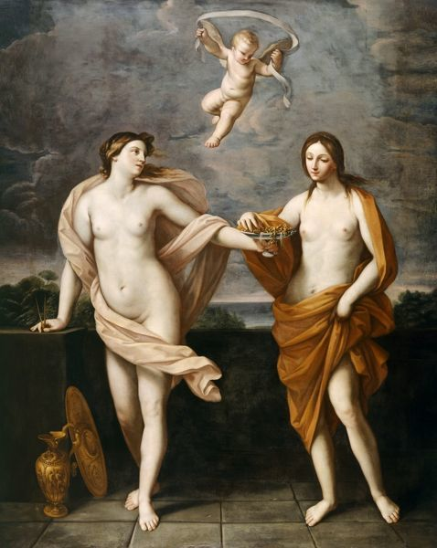 "CHISWICK HOUSE, London. ""Liberality and Modesty"" by Guido RENI (1575-1642 School of). Italian School / Bologna"