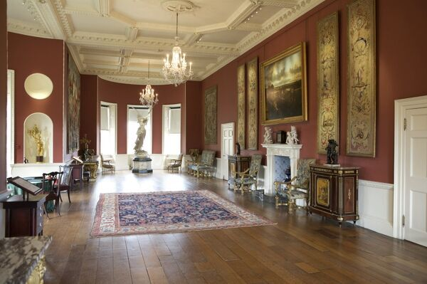 RANGERS HOUSE, London. Interior view of the Long Gallery