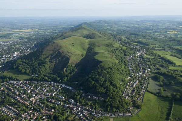 North Hill. Malvern, Worcestershire. Aerial view in June 2013. SO7647/17