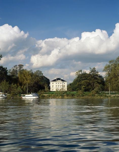 MARBLE HILL HOUSE, Richmond, London. View of house across the river