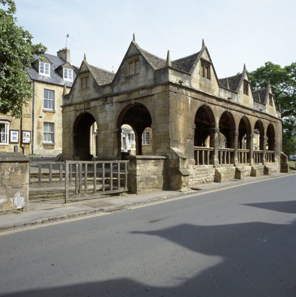 MARKET HALL, Chipping Campden, Cotswolds, Gloucestershire. General view of the 17th century market hall from the south east