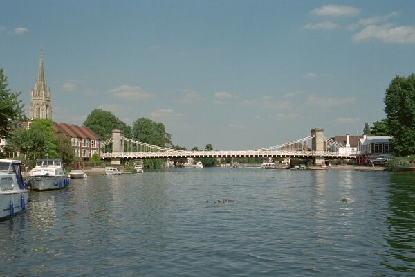 Marlow Bridge. Suspension bridge of 1831-6. IoE 46189