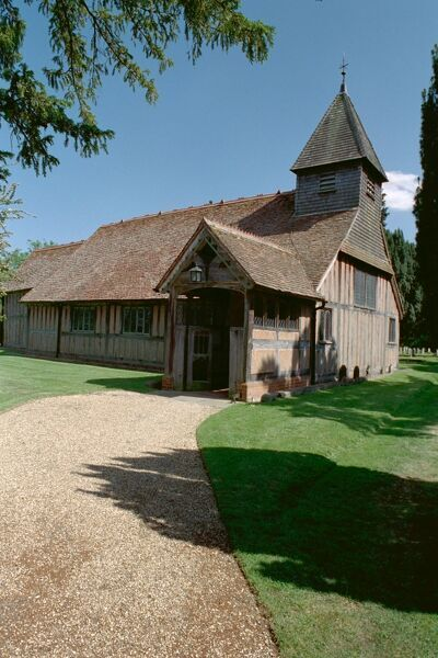 Mattingley Church. Grade I timber-framed church, Hampshire. IoE 136875