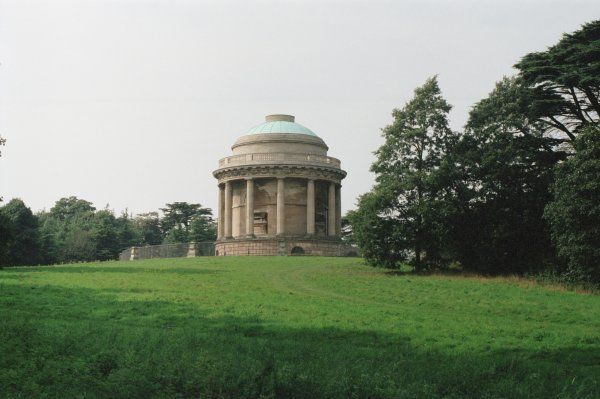 Grade I listed Pelham family mausoleum by James Wyatt, 1792. Brocklesby Park, Lincolnshire. IoE 196651