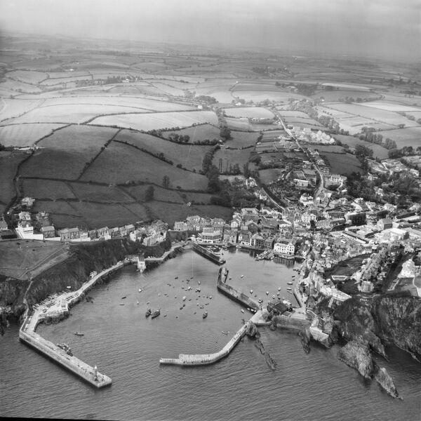 Mevagissey, Cornwall. Photographed in June 1964. Aerofilms Collection
