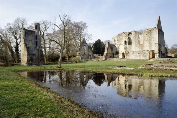 MINSTER LOVELL HALL, Oxfordshire. View from the South East