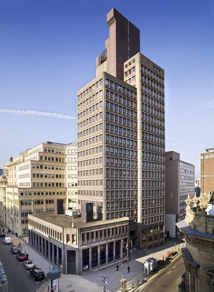Nat West Tower, 103 Colmore Row, Birmingham, West Midlands. General view of the former National Westminster House . Brutalist architecture designed by John Madin