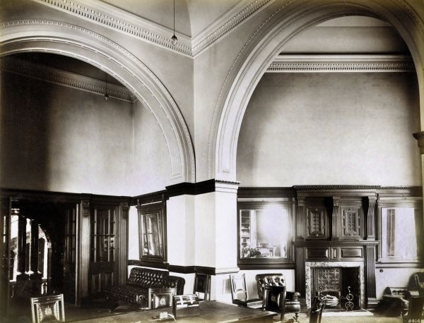 NATIONAL LIBERAL CLUB, Whitehall Place, Westminster, London. Interior view of the Drawing Room. The National Liberal Club was built in 1884-1887 to designs by the architect Alfred Waterhouse. The image is one of a set commissioned by the club