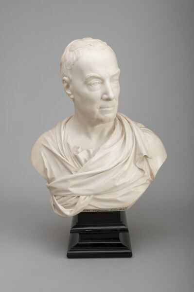 KENWOOD HOUSE, THE IVEAGH BEQUEST, London. Marble bust of the Earl of Mansfield, 1779, by Joseph NOLLEKENS
