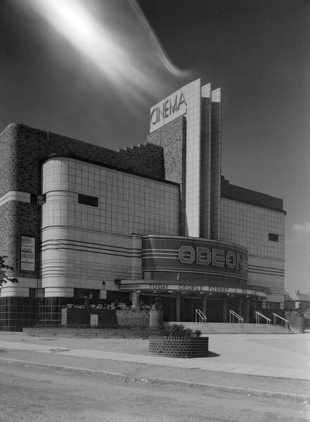 ODEON CINEMA, Kettlehouse, Kingstanding, Birmingham, West Midlands. Exterior view. 1930's photograph taken by John Maltby