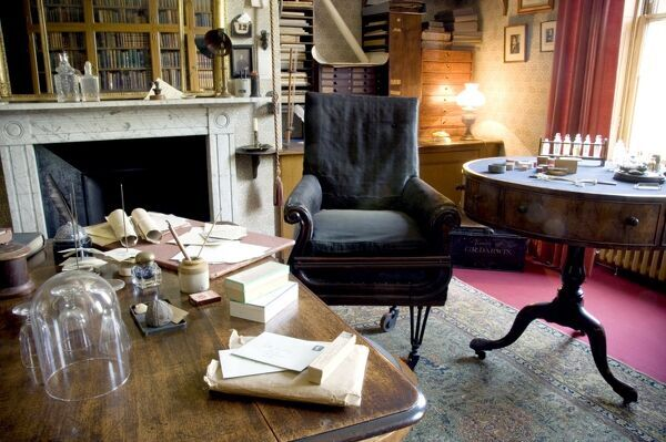 DOWN HOUSE, Kent. Interior view of the Old Study