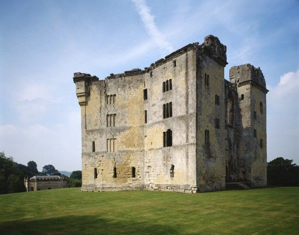 OLD WARDOUR CASTLE, Wiltshire. View of the Castle and pavilion from the East
