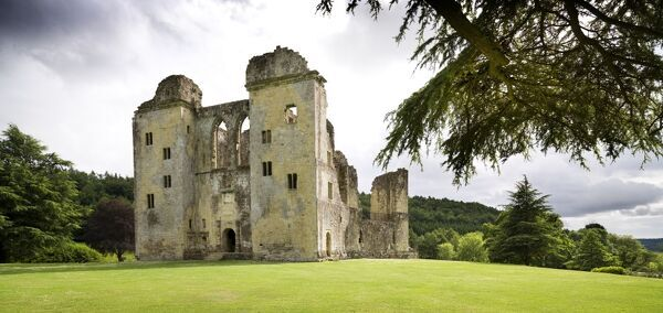 OLD WARDOUR CASTLE, Wiltshire. General view from the north