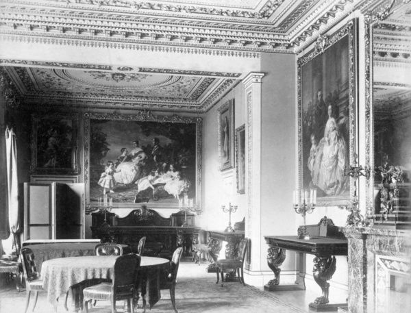 OSBORNE HOUSE, Isle of Wight. The Ryde Album. Interior view. The Dining Room c.1890