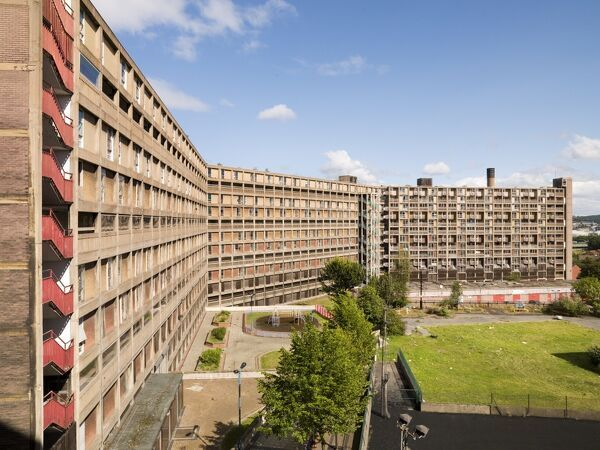 Post War Buildings, Elain Harwood.   Park Hill, Sheffield, South Yorkshire. Constructed 1957-60. Exterior, general view