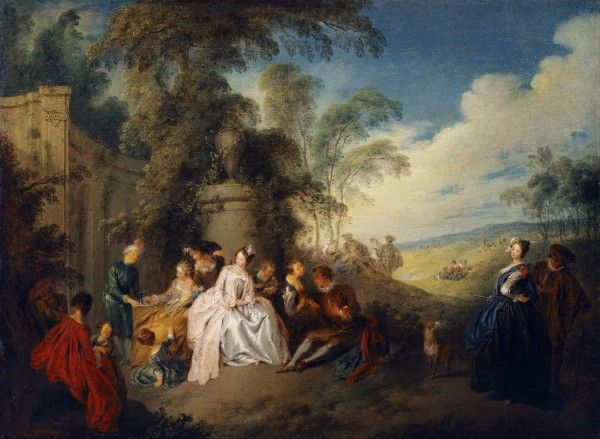 "KENWOOD HOUSE, THE IVEAGH BEQUEST, London. ""Fete Champetre"" by Jean Baptiste Joseph PATER (1695-1736). IBK 955"