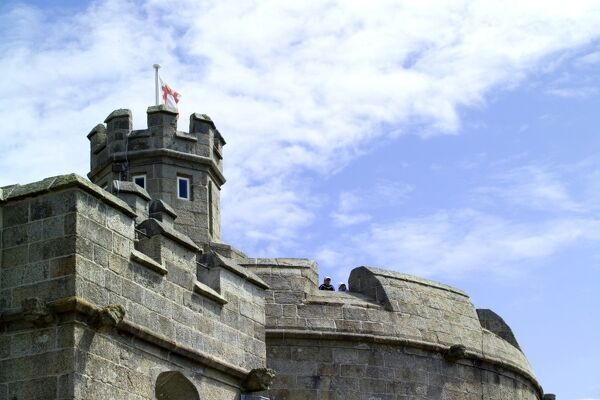 PENDENNIS CASTLE, Falmouth, Cornwall. The battlements